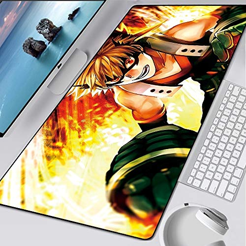 JSJJAET Alfombra de Escritorio Mousepad Anime Gamer Gaming Mouse Pad Computer Acesorios Teclado Grande Laptop Speed ​​Speed ​​Mat (Color : WDYXXY 021, Size : 600x300x2mm)