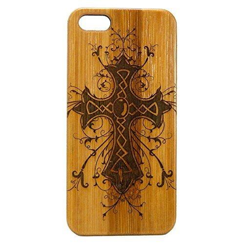 Celtic Cross Case for iPhone 8 Plus | iMakeTheCase Eco-Friendly Bamboo Wood Cover | Catholic Christian Jesus Christ