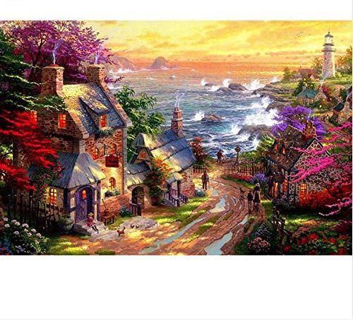 Cabaña junto al mar, paisaje marino, rompecabezas de madera de 1000 piezas, rompecabezas de juguete de ocio educativo para niños adultos, decoración del hogar