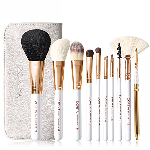 UINGKID Pinceaux de Maquillage Set de 10 Pièces Premium Coloré Fondation Mélange Blush Yeux Visage Poudre Brosse Cosmétiques