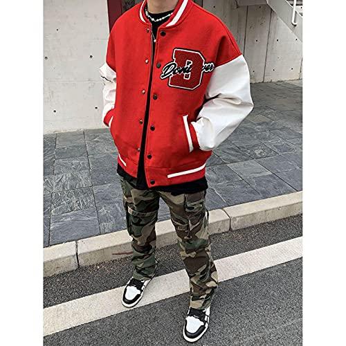 2021 Vintage Hiphop College Giacche da Uomo Furry Stars Lettere Ricamo Colore Blocco Colore Colore Harajuku Varsity Giacca Donne Cappotti da Baseball
