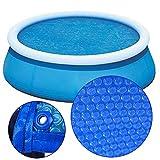 Cubierta Piscina/Cobertor Piscina/ Funda Piscina Redondo Burbuja Cubierta de película solar para piscina con ojales, Grueso 15Mil Manta calefactora para piscina, Alfombra de aislamiento térmico para p