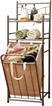 Clothes Bin Dirty Clothes Storage Basket Double Layer Storage Oxford Cloth Storage Bathroom Champagne (Color : A)