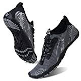 Water Shoes for Men and Women Barefoot Quick-Dry Aqua Sock Outdoor Athletic Sport Shoes for Kayaking, Boating, Hiking, Surfing, Walking (M-Gray, 44)