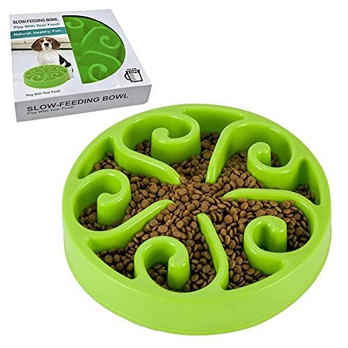 Ciotola Per Cani a Lenta Alimentazione,Distributore di Cibo Lento,Mangiatoia Labirinto Cibo e Acqua per Cani interattiva e Divertente,per Cani Gatto