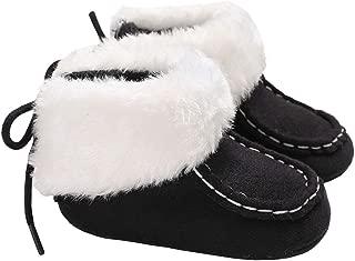 Infant Baby Girls Winter Warm Short Snow Boots Anti-Slip Furry Plush Booties