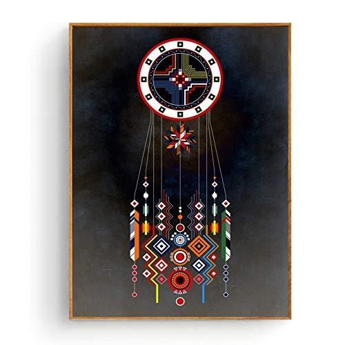 zhuifengshaonian Lienzo geométrico Pintura Arte impresión Cartel Imagen Pared Moderno Minimalista Dormitorio Sala de Estar decoración (ZQ-417) Sin Marco Poster 40x60cm