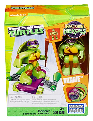 Mega Bloks - Teenage Mutant Ninja Turtles Half Shell Heroes - Donnie Skateboard (Dmw40)