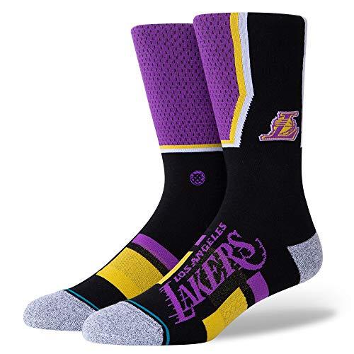 Stance Lakers Shortcut - Calcetines unisex (2 unidades), Unisex adulto, A545A20LAC, morado, medium