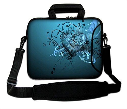 LUXBURG® 14 Zoll Schultertasche Notebooktasche Laptoptasche Tasche mit Tragegurt aus Neopren für Laptop/Notebook Computer