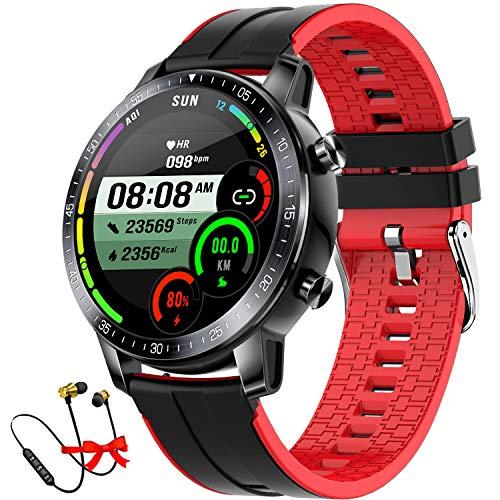 DUODUOGO Reloj Inteligente, K5 Smartwatch Hombre Impermeable con 8 Modos Deportivos Cronómetro Pulsómetro Pulsera Actividad Inteligente Smartwatch Android iOS para Xiaomi Huawei iPhoneTeléfono (Rojo)