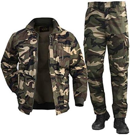 BGTEEVER Men's Cotton Military Jacket Cargo Pants Sets Combat Uniforms Soft Winter Outdoor Workwear