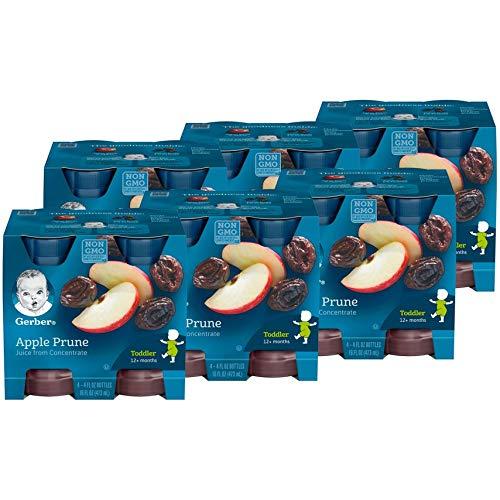 Gerber 100 Percent Apple Prune Juice, 4 Fluid Ounces, 24 per case
