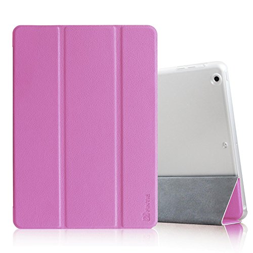 Fintie Case for iPad Air - Lightweight Smart Standing Cover with Semi Transparent Back Cover Supports Auto Wake/Sleep for Apple iPad Air (2013 Model) - Violet