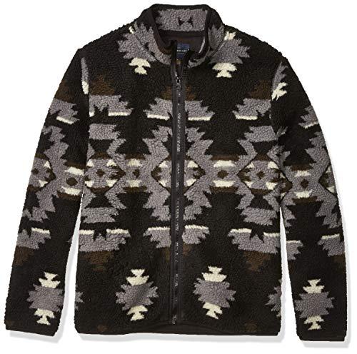Lucky Brand Men's Sherpa Jacquard Full Zip Mock Neck Sweatshirt, Multi, L