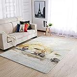 WOSITON Alfombra para perro, estilo europeo, para dormitorio, 50 x 80 cm, color blanco