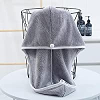 シャワーキャップのサンゴのフリースの乾いた髪の帽子の女性の厚い超吸収性髪速い乾燥タオルの成人向けスカーフ,C-4pcs