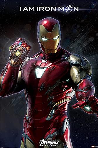 1art1 The Avengers - Endgame I Am Iron Man Poster Stampa (91 x 61cm)