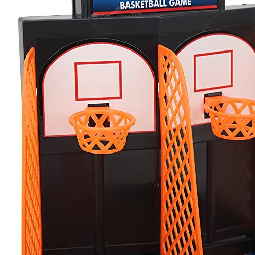 BOLORAMO Juego de Baloncesto de Mesa, Juguete de Escritorio de Baloncesto de Borde Suave para niños pequeños para un Bonito Regalo
