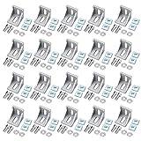 20 Pcs Soporte de Esquina Forma de L Ángulo Recto 4040 Sujetador Hardware Perfil de Aluminio