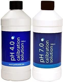 Bluelab pH 4.0 Calibration Solution 500 ml, pH 7.0 Calibration Solution 500 ml