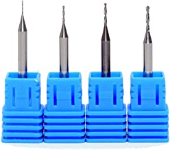 Tapered Ball Nose End Mill, Tungsten CNC 2D and 3D Carving Router Bits End Milling Cutter Drilling Hole Bits for PCB Circuit, Plastic, Fiber, Wood, Copper 0.45mm, 0.75mm, 1mm, 1.25mm Set of 4