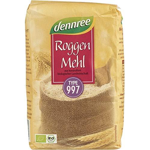 dennree Roggenmehl Type 997 (1 kg) - Bio