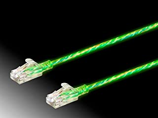 Monoprice Cat6 Ethernet Patch Cable - 50 feet - Glow| Glow in The Dark, Snagless RJ45 Stranded 550MHz UTP Pure Bare Copper Wire 28AWG - SlimRun Series