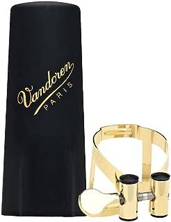 Vandoren LC57GP M/O Ligature and Plastic Cap for Alto Saxophone; Gold Plated