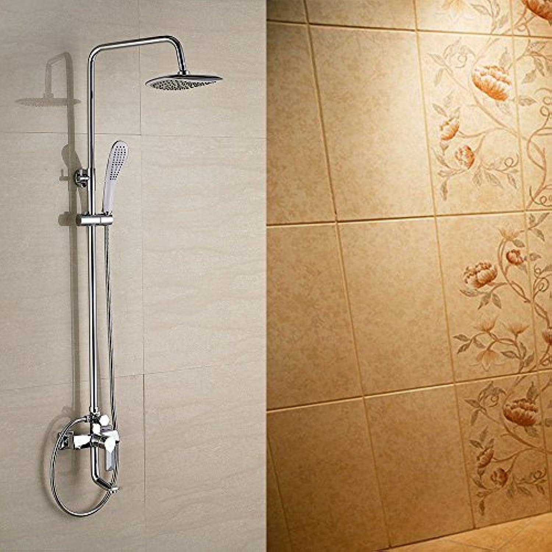 SHLONG Wasserhahn Duschsule Duscharmatur Vollkupfer Duscharmatur Duschset