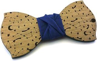 Papillon legno GIGETTO Costellazioni Nodo Blu Made in Italy