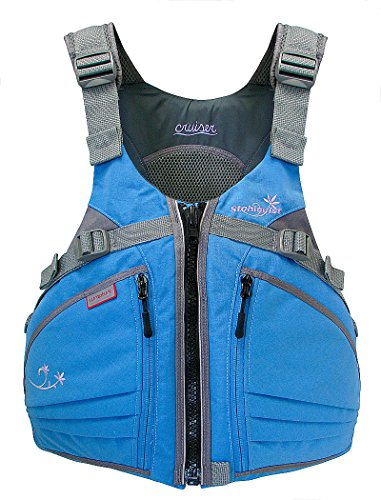 Stohlquist Women's Cruiser Life Jacket/Personal Floatation Device (Powder Blue/Gray, Plus)