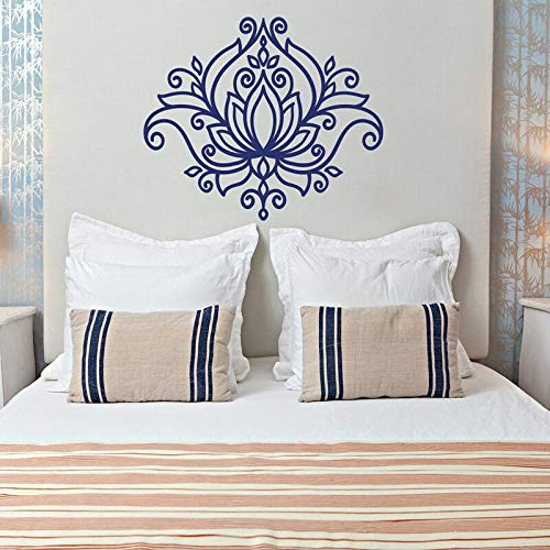 hetingyue Beau Lotus Muurtattoo, Mandala, yoga, vinyl, zelfklevend, kamerdecoratie, 42 x 36 cm