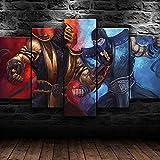 NDSJ Leinwanddrucke 5 Stück Leinwand Bilder Wanddeko Wand