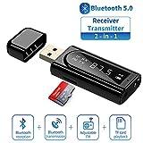 Trasmettitore Bluetooth 5.0,DUTISON 2 in 1 trasmettitore ricevitore bluetooth per auto/TV/...