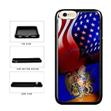 BleuReign(TM) Armenia And USA Mixed Flag TPU RUBBER Phone Case Back Cover For Apple iPhone 8 Plus and iPhone 7 Plus
