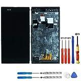 swark Pantalla LCD compatible con Sony Xperia Z Ultra XL39h XL39 C6802, color negro, pantalla táctil, digitalizador, marco de montaje + herramientas