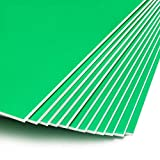 Green Foam Boards for Signs, Craft Poster Boards (20 x 30 Inches, 12-Pack)
