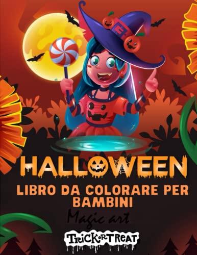 Halloween: libro da colorare per bambini, libri da colorare e dipingere, regalo di halloween