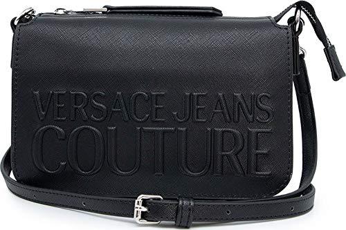 Versace Jeans Couture Umhängetasche mit geprägtem Logo, Farbe: Schwarz