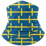 Gjiesh Originalidad Suecia Bandera Calentador de cuello Polaina Diadema Máscara facial Bandana Pañuelo para la cabeza Bufanda Sombreros Pasamontañas Esquí Correr Motocicleta