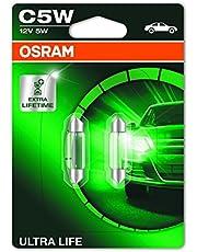 OSRAM 6418ULT-02B Ultra Life, C5W, bijzonder duurzaam, halogeen signaallamp, dubbele blister (2 lampen), oranje