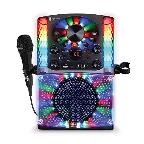 Singing Machine SML625BTBKD Bluetooth CD+G Karaoke System Black