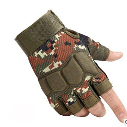 HW@ST- Outdoor Halbfinger Handschuhe Männer Und Frauen Slip Outdoor Sport Outdoor Wandern Reiten Tragen Outdoor Halbe Fingerhandschuhe (Farbe : E, größe : M)