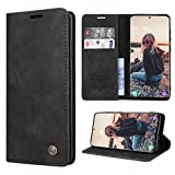 RuiPower Handyhülle für Samsung Galaxy S20 Hülle Premium Leder PU Flip Hülle Wallet Lederhülle Klapphülle Magnetisch Silikon Schutzhülle für Samsung Galaxy S20 Tasche (6.2'') - Schwarz