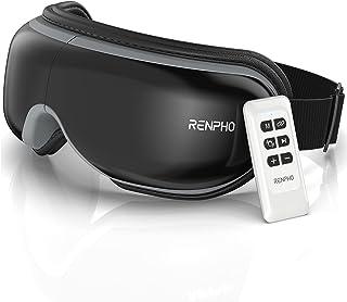 RENPHO 2.0 - Oogmassageapparaat met afstandsbediening en warmtefunctie, draadloos muziek, oplaadbaar, oogtherapie ter verl...