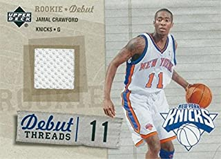 Jamal Crawford player worn jersey patch basketball card (New York Knicks) 2005 Upper Deck Rookie Debut #DTJC