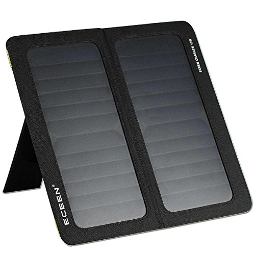 ECEEN 13W 2-Port USB Universal PowerPort Solar Phone Charger for iPhone 7/7 Plus/6S/6/6 Plus,iPad Pro, Android Phones Nexus 5X/6P Kindle and Other 5V Digital Devices Black