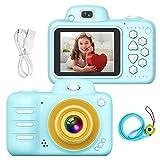 Kinder Digital Mini Kamera, Welltop Selfie Photo Kid Camera Kinderkamera Stoßfester wiederaufladbarer Camcorder Vorder- / Rückseite Kleinkind-Videorecorder mit Blitzlampe für 4-12 Jahre altes Kinder -