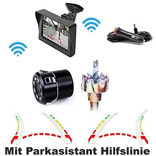 HSRpro RFK-36 draadloze achteruitrijcamera met parkeerassistent hulplijn - tot 5 jaar garantie voor autobestelwagens, campers, bus - Car & Van Rear View Camera